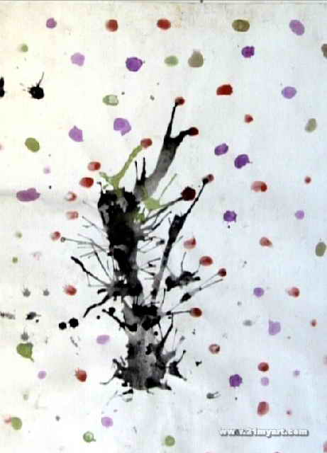 梅花儿童画属于水粉画