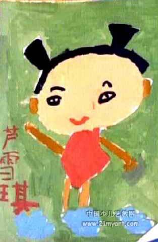 快乐小哪吒儿童画图片