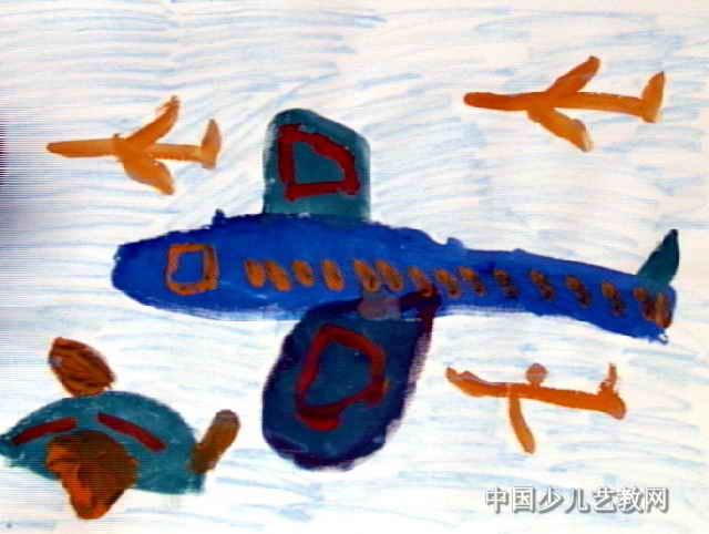 我长大了开飞机儿童画图片