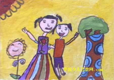 照相儿童画
