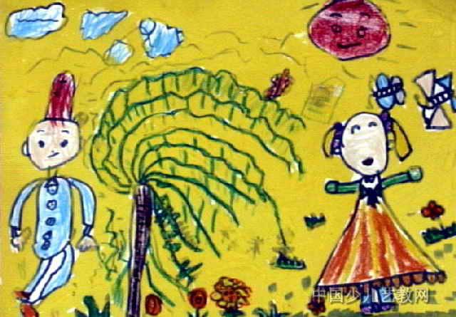 春游儿童画12幅图片