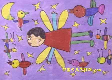 飞向太空儿童画9幅(第7张)图片