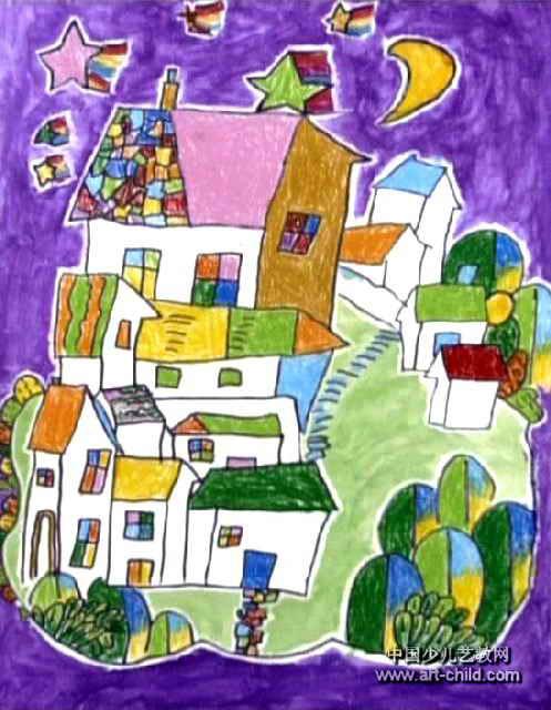 我的家乡儿童画属于水粉画