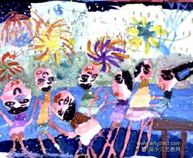 节日儿童画5幅