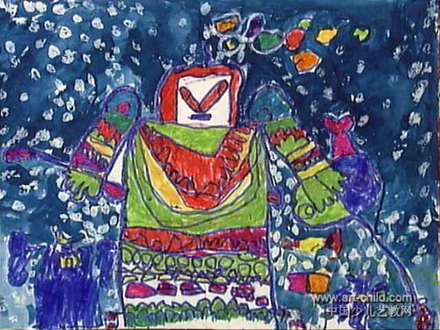 奥特曼勇士儿童画图片