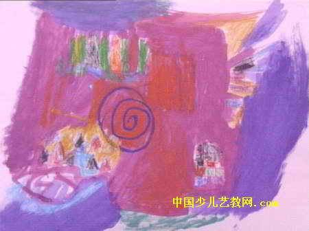 梦幻房子儿童画属于版画