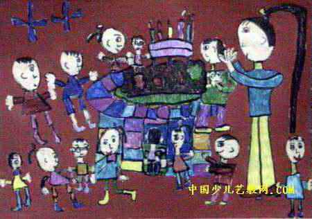 最美的生日儿童画