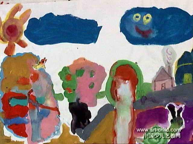 美丽的大自然儿童画3幅