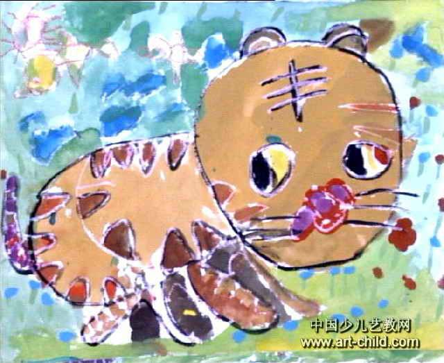 大老虎儿童画3幅 第2张