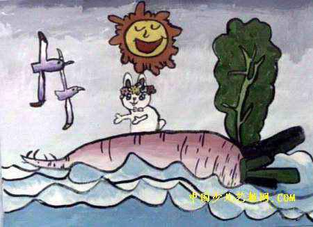 小白兔历险记儿童画