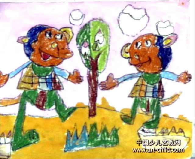 歌俩好儿童画作品欣赏