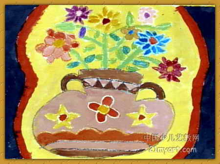 花瓶儿童画 三 5幅 第4张