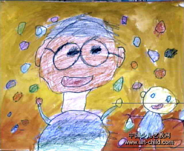 夫给我买QQ糖儿童画作品欣赏