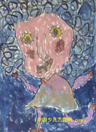 儿童画 陆航/我的妈妈儿童画,此幅水粉画尺寸为450x327像素,作者孙怡文,...
