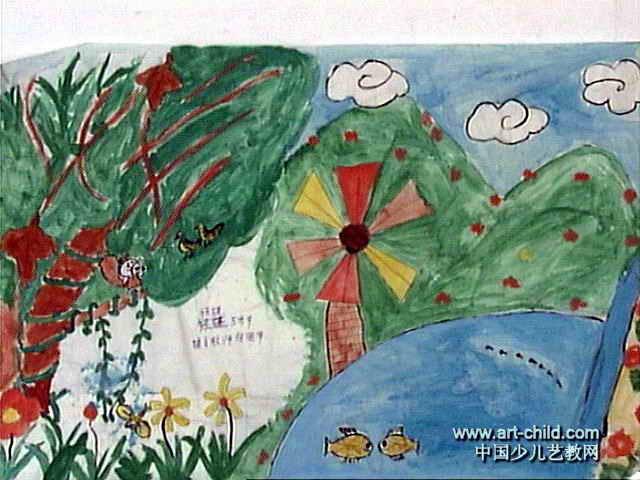 我爱大自然儿童画5幅(第3张)