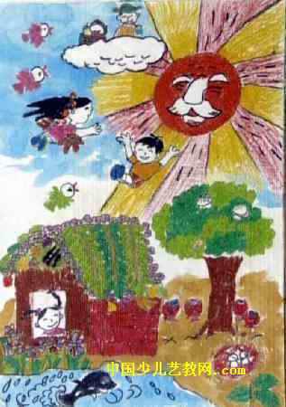 快乐的世界儿童画3幅