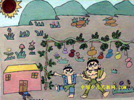 儿童环保葫芦娃衣服展示