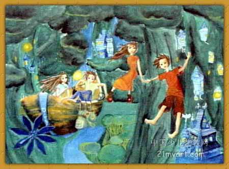 梦幻精灵儿童画属于水粉画