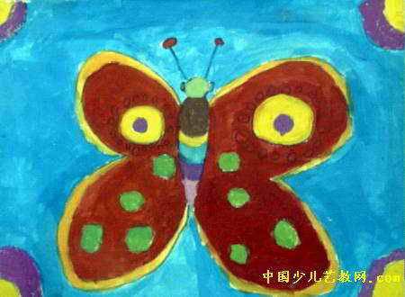 大蝴蝶儿童画2幅