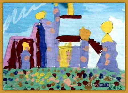 神奇的房子儿童画2幅