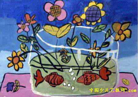 花瓶儿童画 三 5幅图片