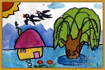 春天來了兒童畫12幅(第6張)