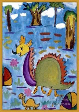 恐龙儿童画8幅(第5张)