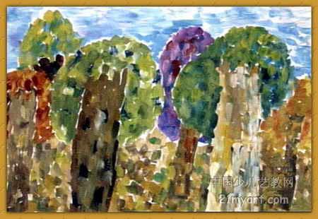 秋天的树儿童画4幅(第2张)图片
