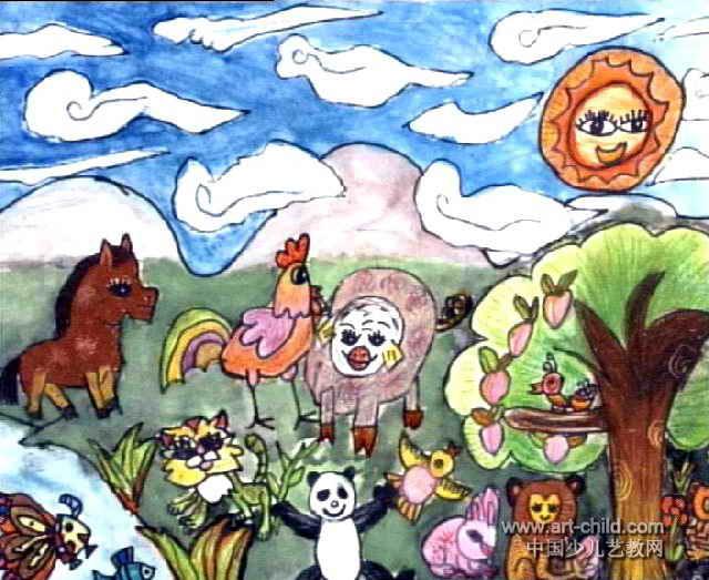 动物园儿童画7幅(第4张)