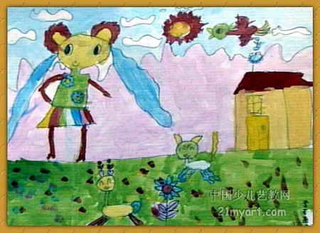 郊游儿童画7幅(第4张)