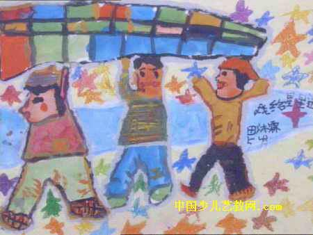 我给星星送被子儿童画