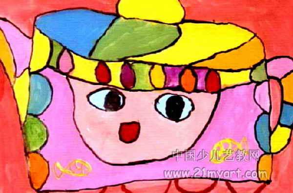 茶壶儿童水粉画图片