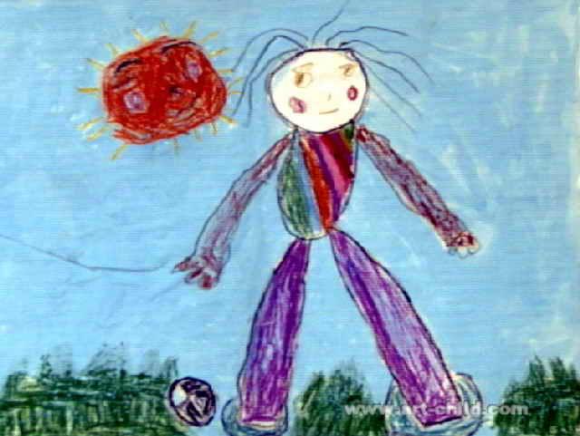 长大我要当女足明星儿童画图片