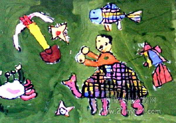 去海底旅行儿童水粉画