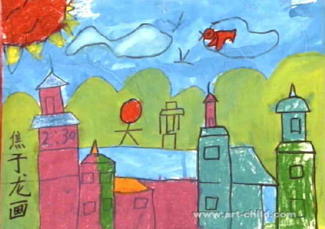 城堡儿童画7幅(第2张)图片