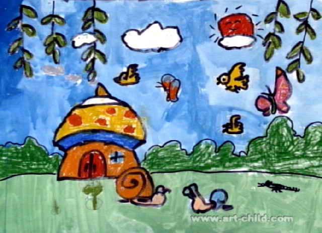 春天来了儿童画12幅(第2张)图片