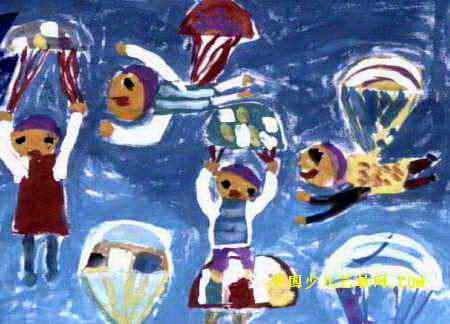 飞行员儿童画