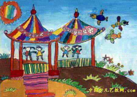 花亭子儿童画