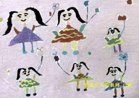 我们一起放风筝儿童画图片