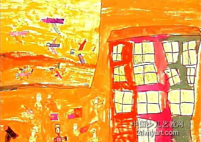 训练基地儿童画作品欣赏