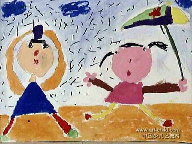 美丽中国地图儿童画展示