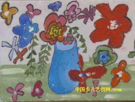 花瓶儿童画 一 8幅 第4张