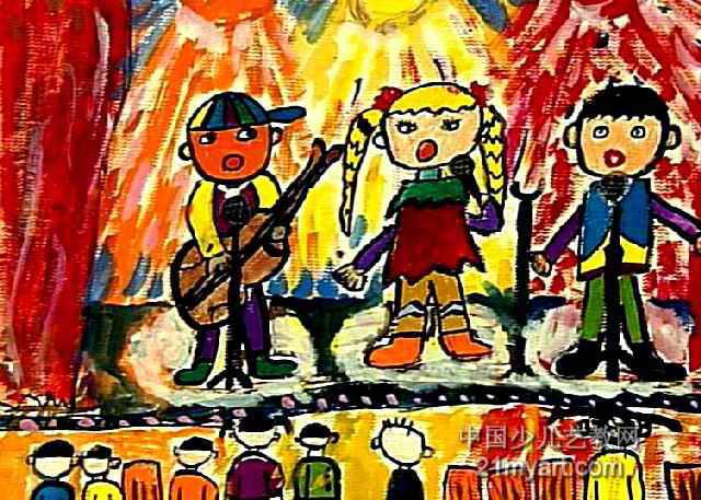 音乐会儿童画4幅