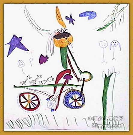 春游儿童画属于水粉画,长451px,宽443px,作者潘童,女,5岁,就读商丘市自强美术学校.图片