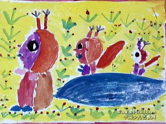 带着宝宝去旅行儿童画作品欣赏