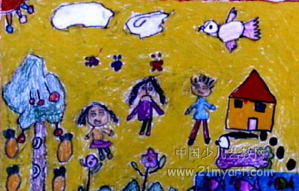 简笔画小姑娘长辫子-爱生气的小女孩儿童画