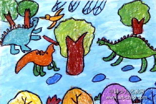 恐龙世界儿童画8幅 第7张