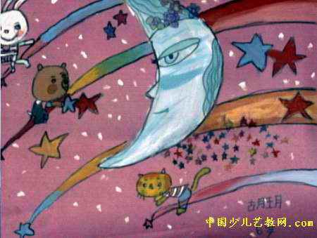 月芽弯弯儿童画