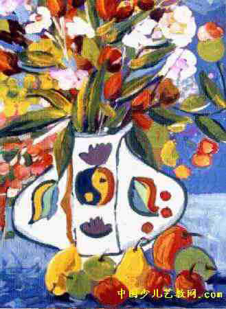 花卉儿童画属于水粉画