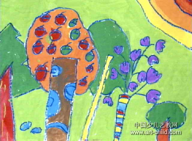 美麗的森林兒童畫2幅圖片